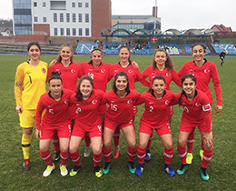 Womens U16s lost against Denmark: 2-1